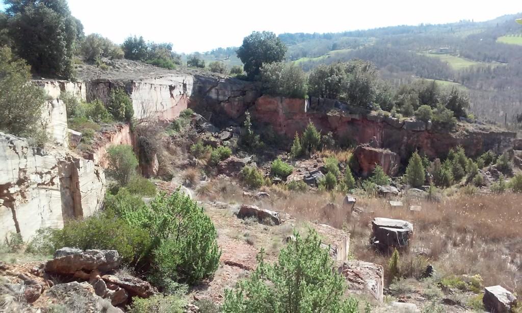 Le vecchie cave di travertino di Bagno Vignoni